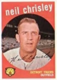 1959 Topps Regular (Baseball) Card# 189 Neil Chrisley of the Detroit Tigers VGX Condition