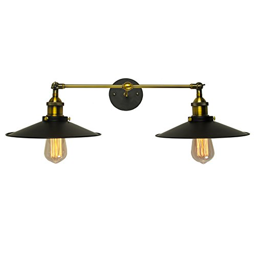 Electro_BP;loft style Vintage rustic wall lamps bed lamp with 2 light max 80W painted finish
