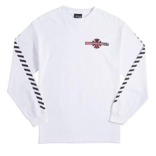 f85a01e06c64 Independent Skateboard Trucks Hazard Long Sleeve Shirt (White) XX-Large