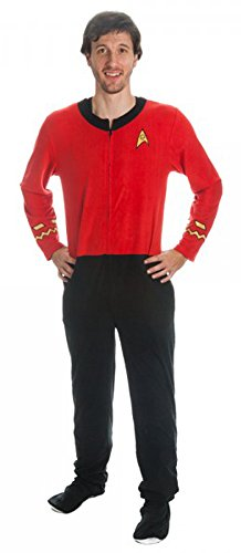 Star Trek Scotty Red Engineering Uniform Onesie Pajama (Medium) -