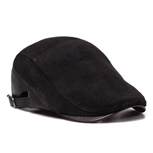 Hombre Sombreros Negro Liuxinda De Boinas Europeas Americanas E Ocio Cuero Y pm Invierno Para Otoño 8qSwB6