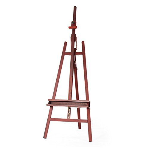 (SPLY DTEM Bracket Type Solid Wood Wooden Easel Multi-Purpose Oil Painting Sketch Sketching Rack Red Rosewood Rear Supporting Oil Painting Shelf Studio Real Estate from Advertising Display Rack Easel)