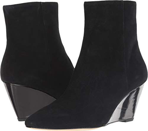 Donald J Pliner Women's Jae Black Kid Suede/Black Patent 7.5 M US ()