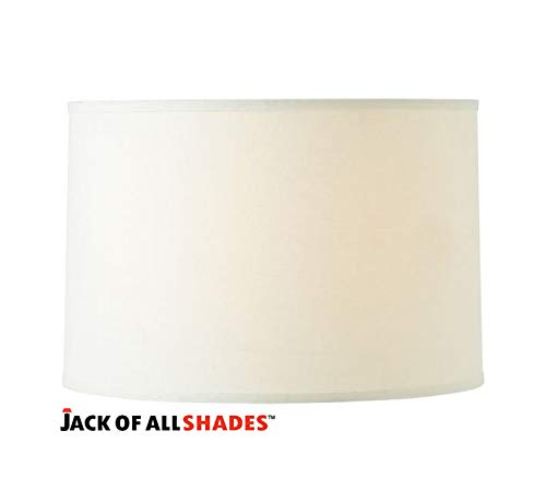14x14x10 Linen Drum Lampshade - Pick Your Color. (Brussels Cream) -