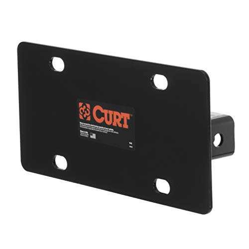CURT 31002  Trailer Hitch License Plate Holder Bracket for 2-Inch Receiver