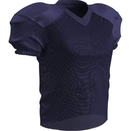 CHAMPRO Adult Stretch Polyester Practice Football Jersey, Navy, - Polyester Adult Jersey