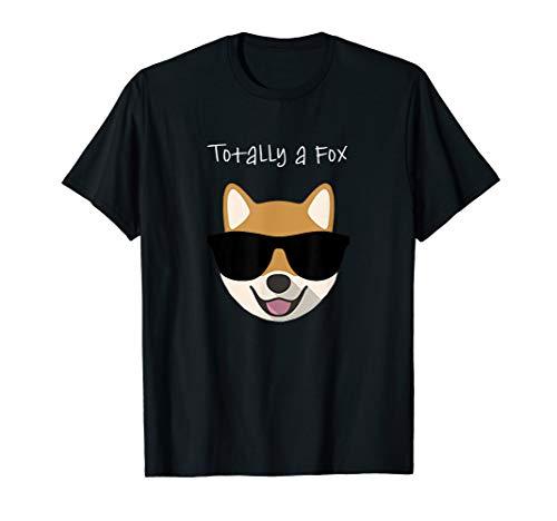 Shiba Inu Totally a Fox Dog Tee Shirt For Canine Puppy Love ()