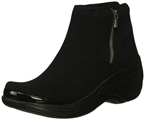 BZees Women's Zora Mid Calf Boot, Black Stretch Fabric, 9.5 M US