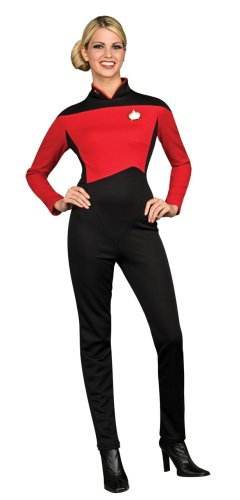 [Secret Wishes  Star Trek the Next Generation Woman's Deluxe Red Jumpsuit, Adult Medium] (Red Star Trek Dress)