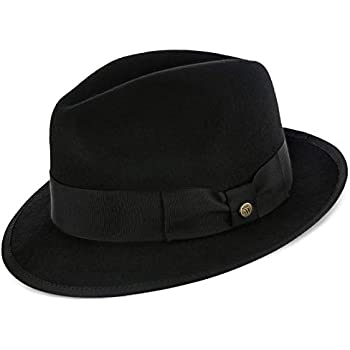 0d42288570d Amazon.com  Layover - Walrus Hats Center Dent Wool Felt Fedora Hat ...