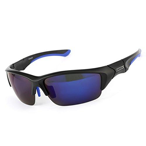 924b9e4c320 ODODOS Polarized Sports Sunglasses for Cycling Baseball Running Fishing  Golf Superlight Ultralight Frame