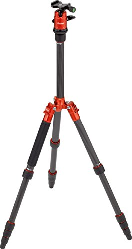 Rollei Compact Traveler No  1 Carbon   Ultra Lightweight Travel Tripod  2 16 Lb Incl  Ball Head    Folded Length  12 99    Arca Swiss Compatible   Monopod Function   Carbon   Orange