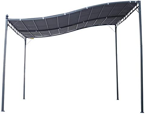 Outsunny - Pérgola de jardín (2, 97 x 2, 97 m, Metal Negro ...