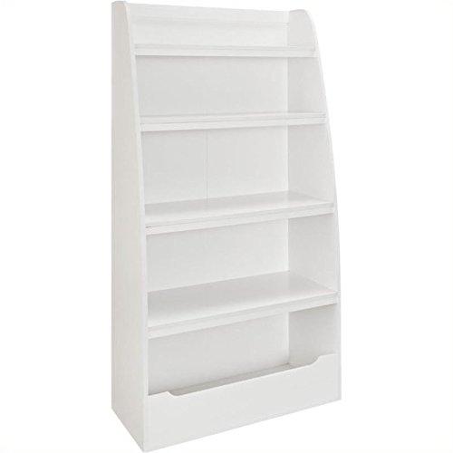 Pemberly Row Kids 4-shelf Bookcase in White Finish