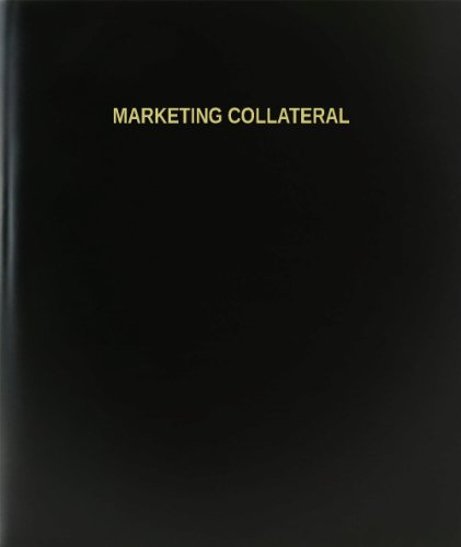 BookFactory® Marketing Collateral Log Book / Journal / Logbook - 120 Page, 8.5''x11'', Black Hardbound (XLog-120-7CS-A-L-Black(Marketing Collateral Log Book)) by BookFactory