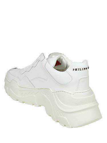Philipp Cuir Baskets Blanc Msc1759ple008n01 Plein Homme 4qwZ0v4