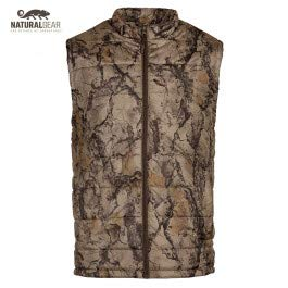 Natural Gear Camo Hunting Vest for Men and Women, Hunting Gear for Elk, Duck, Deer, or Hog Hunting, Women's and Men's Full-Zip Synthetic Down Camo Vest (S) by Natural Gear
