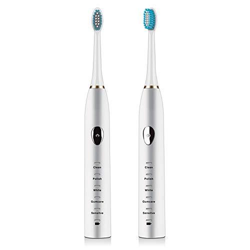 励起固有の逆HOHYLLYA 音波振動磁気サスペンション電動歯ブラシ誘導充電防水成人家庭用 (色 : White)