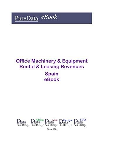 Office Machinery & Equipment Rental & Leasing Revenues in Spain: Product Revenues