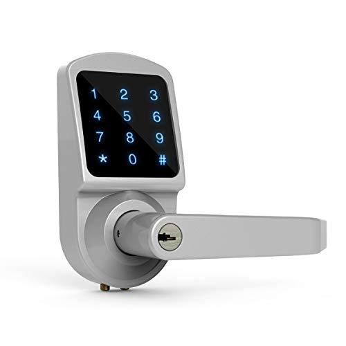 Touchscreen Keypad Security Entry Door Lock, Ardwolf AL3 Digital Electronic Keyless Smart Door Lock Interchangeable for Left and Right Door Handle - Digital Lock Electronic