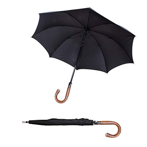 Security umbrella self defense umbrella great tactical umbrella legal with German Quality handmade curved handle ()