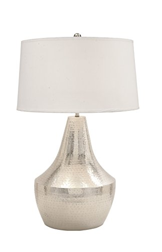 Deco 79 23572 Stunning Metal Hammered Table Lamp, 32
