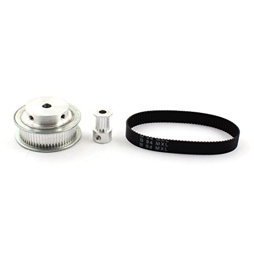 MXL 15T 60T 5mm 6mm Bore 1:4 Speed Ratio Timing Pulley w 9.5mm Belt