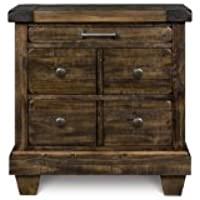 Magnussen B2524-01 Brenley Wood 3-Drawer Nightstand
