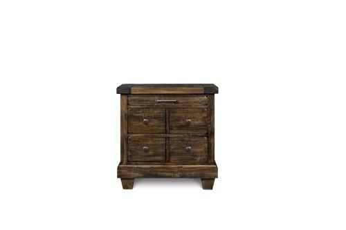 Magnussen B2524-01 Brenley Wood 3-Drawer Nightstand
