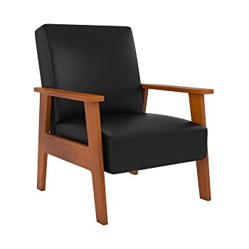 Charmant Novogratz Asher Chair With Multi Position Back In Faux Leather Upholstery,  Wood Frame,