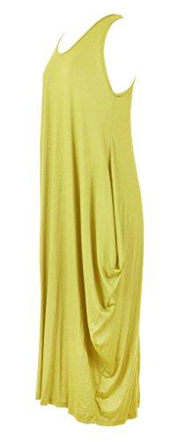 TEXTUREONLINE - Vestido - Sin mangas - para mujer amarillo