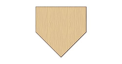 (Home Plate Baseball Unpainted Unfinished Raw Wood Cutout Shapes Sign (Wood))