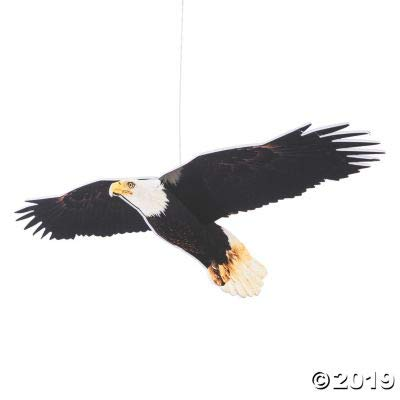 RAILROAD VBS 3D HANGING EAGLE DECOR - Party Decor - 6 Pieces: Toys & Games