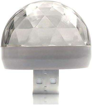【GFA】ミニUSBカラー雰囲気灯自動車USBパーティーランプDJ LED室内灯クラブマジックステージ効果携帯ライト