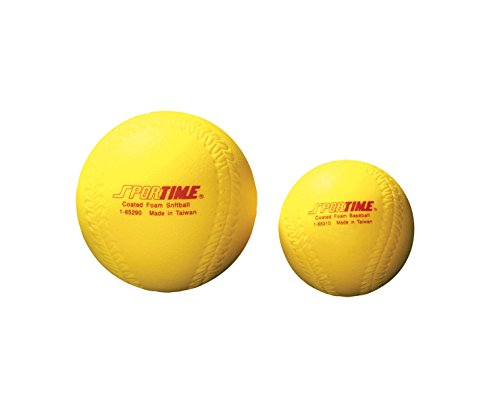 Sportime Coated Foam Softball High-Visibility Yellow