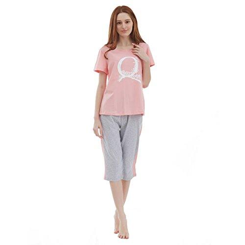 Pijamas Para Señoras/Pijamas De Verano De Manga Corta De Algodón/Versión Coreana Del Traje De Servicio Doméstico Dulce A