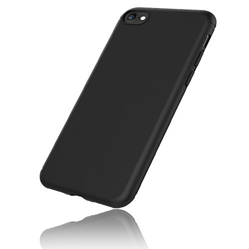 big sale e2ef7 bf904 EasyAcc Case for iPhone 7/iPhone 8, [Support iPhone 8 Wireless Charging]  Black TPU Phone Case Matte Finish Slim Profile Phone Cover Compatible with  ...