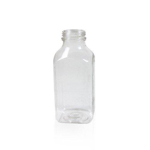 12 Oz Empty Clear Pet Plastic Juice Bottles With Tamper