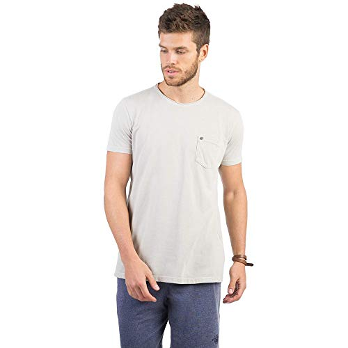T-Shirt Com Bolso Lisa Cinza CINZA/G