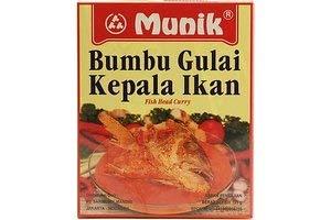 8 x 105g Munik Bumbu Gulai Kepala Ikan (Fish Head Curry) Indonesia Seasoning Paste