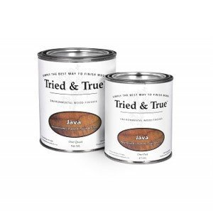 Tried and True Wood Stain- 100% solvent free, zero VOC, and safe for food and skin contact (Quart, Java) ()