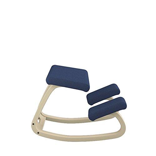 Variable Furniture Balans The Original Kneeling Chair Varier ThatSit Balans Kneeling Chair with Backrest, Black Step Fabric ...