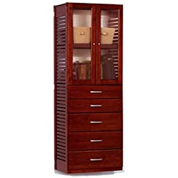 Adjustable Wardrobe Finish: Red Mahogany