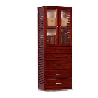 Adjustable Wardrobe Finish: Red Mahogany