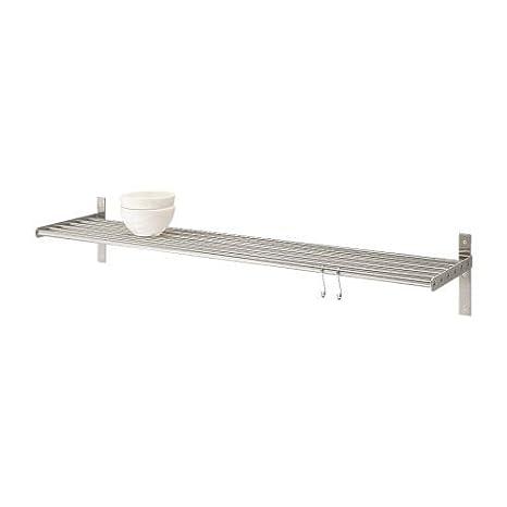 Ikea GRUNDTAL - Estantería de Pared de Acero Inoxidable - 80 ...