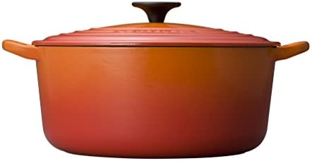 Enameled Cast Iron Round French Oven Color Flame, Size 7.25-qt.