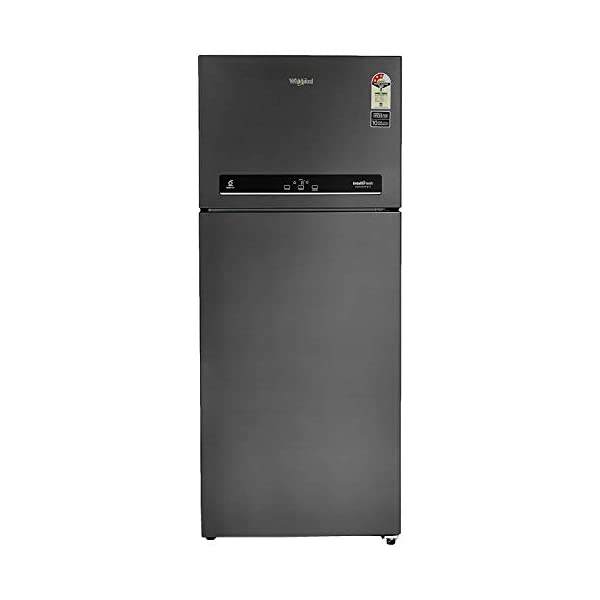 Whirlpool 440 L 3 Star Inverter Frost-Free Double Door Refrigerator (IF INV CNV PLATINA 455 STEEL ONYX (3s)-N, Black) 2021 July Frost-free refrigerator; 440 litres capacity Energy Rating: 3 Star Warranty: 1 year on product, 10 years on compressor