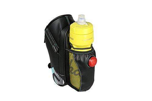 Fahrrad Satteltasche Wasserdicht Fahrradtasche Sattel mit Wasser Flasche Taschen Halter Bike Rücklicht und Reflektierende Streifen für Outdoor Radfahren Reiten Sicherheit By Alxcio Hellblau 7kFo2