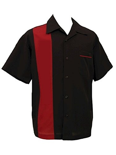Bowling-Retro-Camp-Short-Sleeve-Mens-USA-Made-Shirt-BeRetro-RedRock