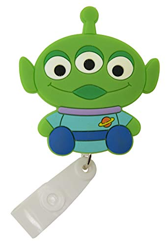 Cartoon Retractable Badge Reel - Holder for ID and Name Tag with Belt Clip, Improved Reel & Strap (Toy Story)
